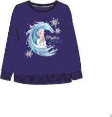 Disney Frozen 2 sweater Elsa en The Nokk - donkerblauw - Maat 128 / 8 jaar