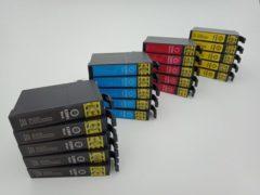 Cyane KATRIZ® huismerk inkt voor Epson 5x T2991XL BK + 5x T2992XL C +5x T2993XL M + 5x T2994XL Y |(20stuks) - Met chip