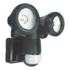 Zwarte ELRO LT3505P 2-Kops LED Buitenlamp met Bewegingssensor - 2x5W 800LM - Zwart