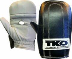 Witte TKO Pro Speed Bag - Zakhandschoenen Boksen - Vechtsporthandschoenen - Leer - Zwart - One Size