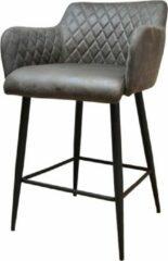 Grijze Damiware Barkruk 75 cm Lederlook Rose - Product Kleur: Stone