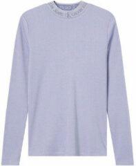 Paarse T-Shirt Lange Mouw Calvin Klein Jeans J20J215228