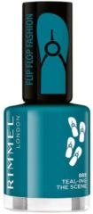 Rimmel London Rimmel 60 Seconds Rg N/p 8ml Flip Flop Fashion 885 Teal-ing The Scene 17 Iv (Ex)