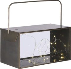 Mica Decorations Lantaarn Aston Led 19,5 X 31,5 Cm Staal Goud