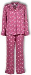 Lords & Lilies Dames Doorknoop pyjama - roze met hondjes all-over print - 182-5-LPE-W/925 - maat S