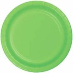 Stemen Kartonnen Bordjes groen 18 cm 20st - Wegwerp borden - Feest/verjaardag/BBQ borden / Gebak bordjes maat