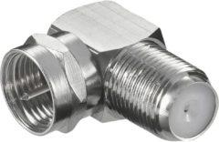 Goobay Adapter 90°-Winkel-Adapter F-Stecker auf F-Kupplung Goobay Silber