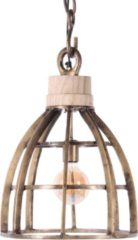 Collectione Hanglamp Larino middel vintage brons + hout