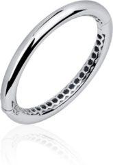 Jewels Inc. - Armband - Bangle Rond Gepolijst - 8mm Breed - Maat 60 - Gerhodineerd Zilver 925