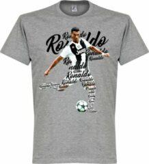 Grijze Merkloos / Sans marque Ronaldo Juventus Script T-Shirt - Kinderen - 152