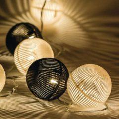 Zeichenfolge leichte schwarze und weiße Kugel 10 LED - HQ