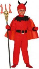 Fun & Feest Party Gadgets Halloween Rode duivel kostuum voor kinderen 128-134 (7-9 jaar)