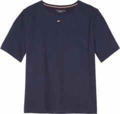 Donkerblauwe Tommy Hilfiger Boxy pyjamatop van zacht katoen