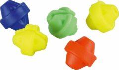 Tom Spaakkralen Parel Junior Geel/rood/blauw/groen 20 Stuks