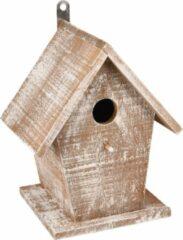 WorldPet Flamingo Nestkastje gio hout wit/bruin 19x15x23cm