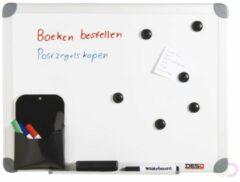 Witte Whiteboard desq 45 x 60 cm in kunststof draagkoffer