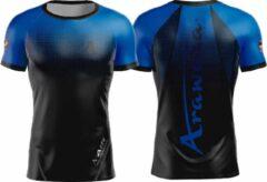 T-shirt Arawaza | dry-fit | zwart-blauw | maat M