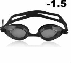 Zwarte Opmost Zwembril op sterkte - myopia (-1.5)