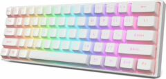 Gele MetaKeyboards MK61 Keyboard - Qwerty - Mechanische Gaming Toetsenbord - RGB - Gateron Optical Yellow Switch - Witte Kleur