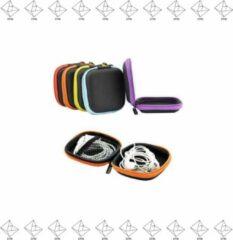 EPIN | Oortjes Opberg Hoesje | Case | Etui | Organizer | Voor Het Opbergen Van Oordopjes En Laadkabels | Opbergen Van Sleutels | USB | PAARS