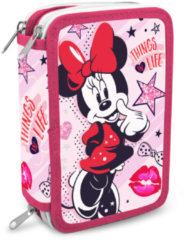Minnie Mouse - Pennenetui met 3 ritsen (12 x 20 x 6 cm)
