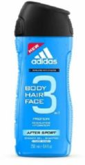 Adidas After Sport Body Hair Face Showergel And Shampoo