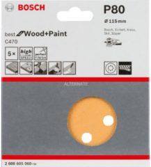 Stayer Bosch C470 Schleifblatt, 5er-Pack für Exzenterschleifer 2608605060