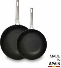 Zwarte Valira Koekenpannen voordeelset Aire 20 + 24 cm 2 delig