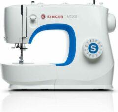 Blauwe SINGER M3205 naaimachine Semiautomatische naaimachine Electrisch