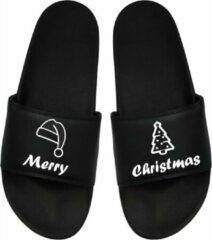 Zwarte Slepr Cadeau Kerstmis - Cadeau Kerst - Badslippers Kerst - Badslippers Kerstmis