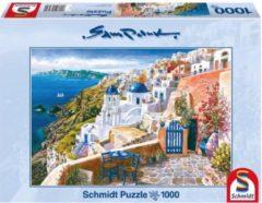 999 Games Schmidt Puzzel - Sam Park: Blik op Santorini