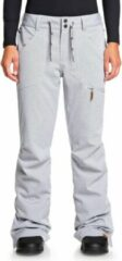 Licht-grijze Roxy Nadia Dames Skibroek - Heather Grey - Maat L