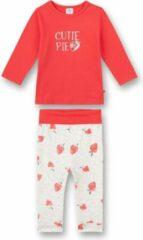 Rode Sanetta babypyjama Strawberry 92