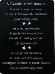 Witte ASTO Products & Service Tekstbord-(wens)kaart hout 's Avonds in het donker ...