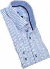 Culture Heren Lange Mouw Overhemd - 215305-Modern Bleu (Maat: L)