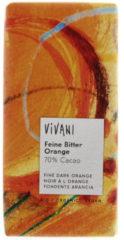 Vivani Chocolade puur met sinaasappel 100 Gram