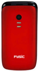 Fysic Alecto FM-9710RD Senioren mobiele klaptelefoon - SOS Noodknop, Camera 1.3 megapixel, Grote toetsen - Rood / Zwart