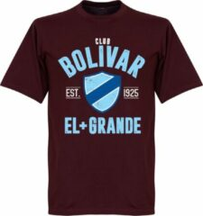 Retake Club Bolivar Established T-Shirt - Bordeaux Rood - L