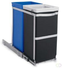 Zwarte Simplehuman Afvalemmer Inbouw Pull Out 20 + 15 liter