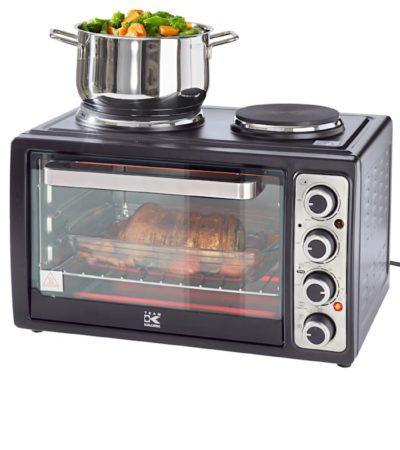 Afbeelding van Compactoven met kookplaten Kalorik zwart
