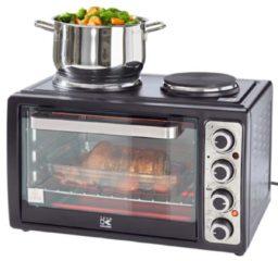 Compactoven met kookplaten Kalorik zwart