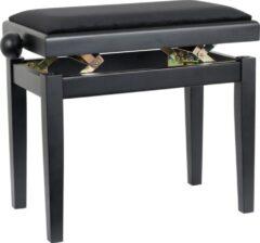 Innox PB 40BK-M pianobank mat zwart, zwarte stof