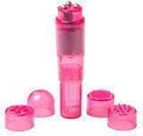 Easytoys Mini Vibe Collection Pocket Rocket - Klein en draagbaar - Met 4 verschillende opzetstukken - Roze