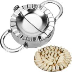 Zilveren Merkloos / Sans marque Stalen Deegvormer Mal dumpling maker voor Ravioli, Pastei, Dumpling, Empanada – Maker Keukengerei | Knoedel maker | RVS |9,5cm