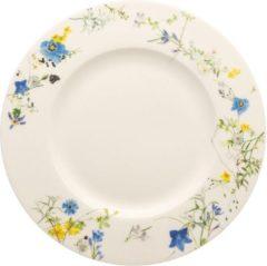 Witte ROSENTHAL - Brillance Fleurs des Alpes - Ontbijtbord 23cm met rand