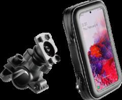 Zwarte BeHello Universele Telefoon Fietshouder - Waterdicht - Voor toestellen tot 6.7 inch