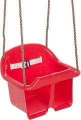 Swing King babyschommelzitje kunststof 36 x 18 cm rood