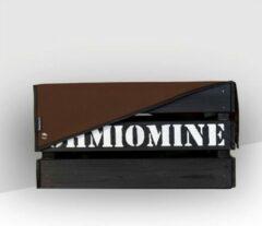 Ohmiomine Transporter Fietskrat Zwart inclusief Chocoladebruin Afdekhoes