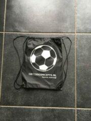 SoccerConcepts Taktisport Rugzak voetbal- Ballentas - 35x45cm - 12 liter - Zwart met koord