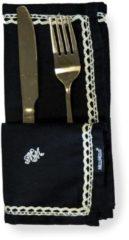 Gouden Melli Mello - Servet - Zwart - 2 stuks